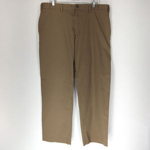 Eddie Bauer 40x32 Pants Khaki Brown Flat Front